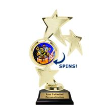 Triple Star Spin Spelling Bee Insert Trophy