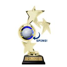 Triple Star Spin Volleyball Insert Trophy