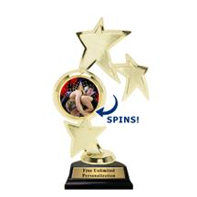 Triple Star Spin Wrestling Insert Trophy