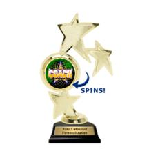 Triple Star Spin Coach Insert Trophy