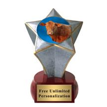 Shooting Star Cow Insert Trophy