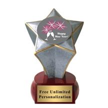 Shooting Star New Year Insert Trophy