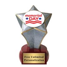 Shooting Star Memorial Day Insert Trophy