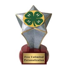 Shooting Star 4H Club Insert Trophy