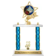 Double Column Trophy - Ribbon Star Pageant