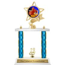 Double Column Trophy - Ribbon Star Boxing