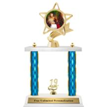 Double Column Trophy - Ribbon Star Christmas