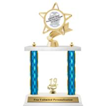 Double Column Trophy - Ribbon Star Fraternity