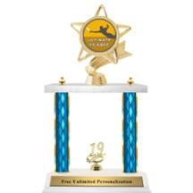 Double Column Trophy - Ribbon Star Ultimate Frisbee