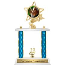 Double Column Trophy – Ribbon Star Horse