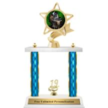 Double Column Trophy - Ribbon Star Rodeo