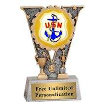 V-Series Navy Insert Trophy