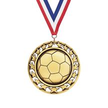Star Circle Soccer Medal