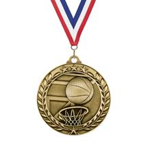 Star Wreath Basketball Medal
