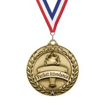 Star Wreath Perfect Attendance Medal