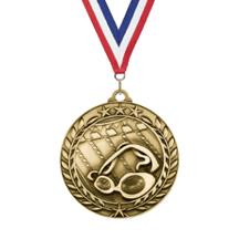 Star Wreath Swimming Medal