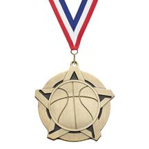 Super Star Basketball Medal