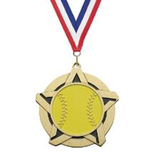 Super Star Softball Medal