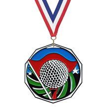 Bright Color Golf Medal