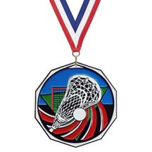 Bright Color Lacrosse Medal