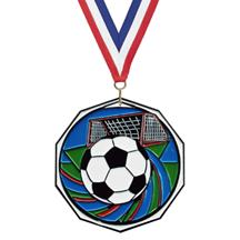 Bright Color Soccer Medal