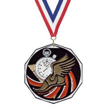 Bright Color Track Medal