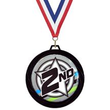 Black Lazer 2nd Place Medal