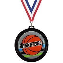 Black Lazer Basketball Medal