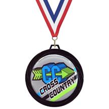 Black Lazer Cross Country Medal