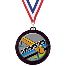 Black Lazer Gymnastics Medal