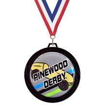 Black Lazer Pinewood Derby Medal