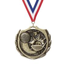 Burst Wreath Golf Medal