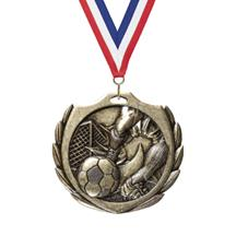 Burst Wreath Soccer Medal