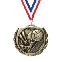 Burst Wreath Volleyball Medal
