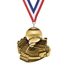 Stadium Baseball Medal