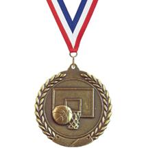 Cheap Wreath Basketball Medal