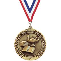 Cheap Wreath Lamp of Knowledge Medal