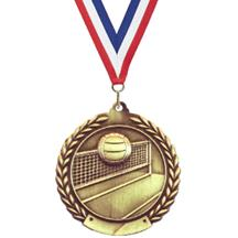 Cheap Wreath Volleyball Medal