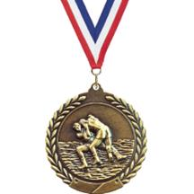 Cheap Wreath Wrestling Medal