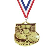 Star Blast Basketball Medal