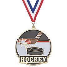 Color Fill Hockey Medal