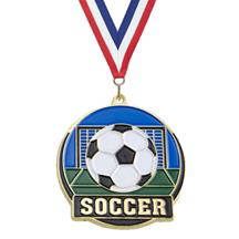 Color Fill Soccer Medal