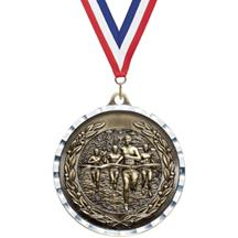 Diamond Cut Cross Country Medal