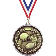 Diamond Cut Football Medal