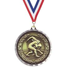 Diamond Cut Wrestling Medal