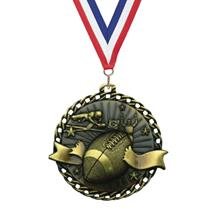 Ribbon Burst Football Medal