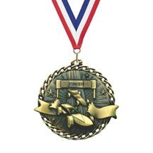 Ribbon Burst Pinewood Derby Medal
