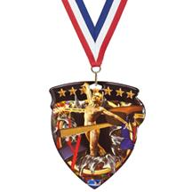 Gymnastics Color Shield Medal