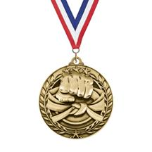 Large Star Wreath Martial Arts Medal