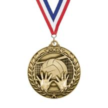 Large Star Wreath Volleyball Medal
